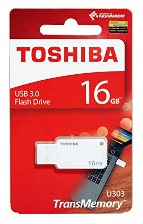 Toshiba Akatsuki THN-U303W0160A4 16GB USB 3.0 Pendrive (White) Pen Drives at amazon