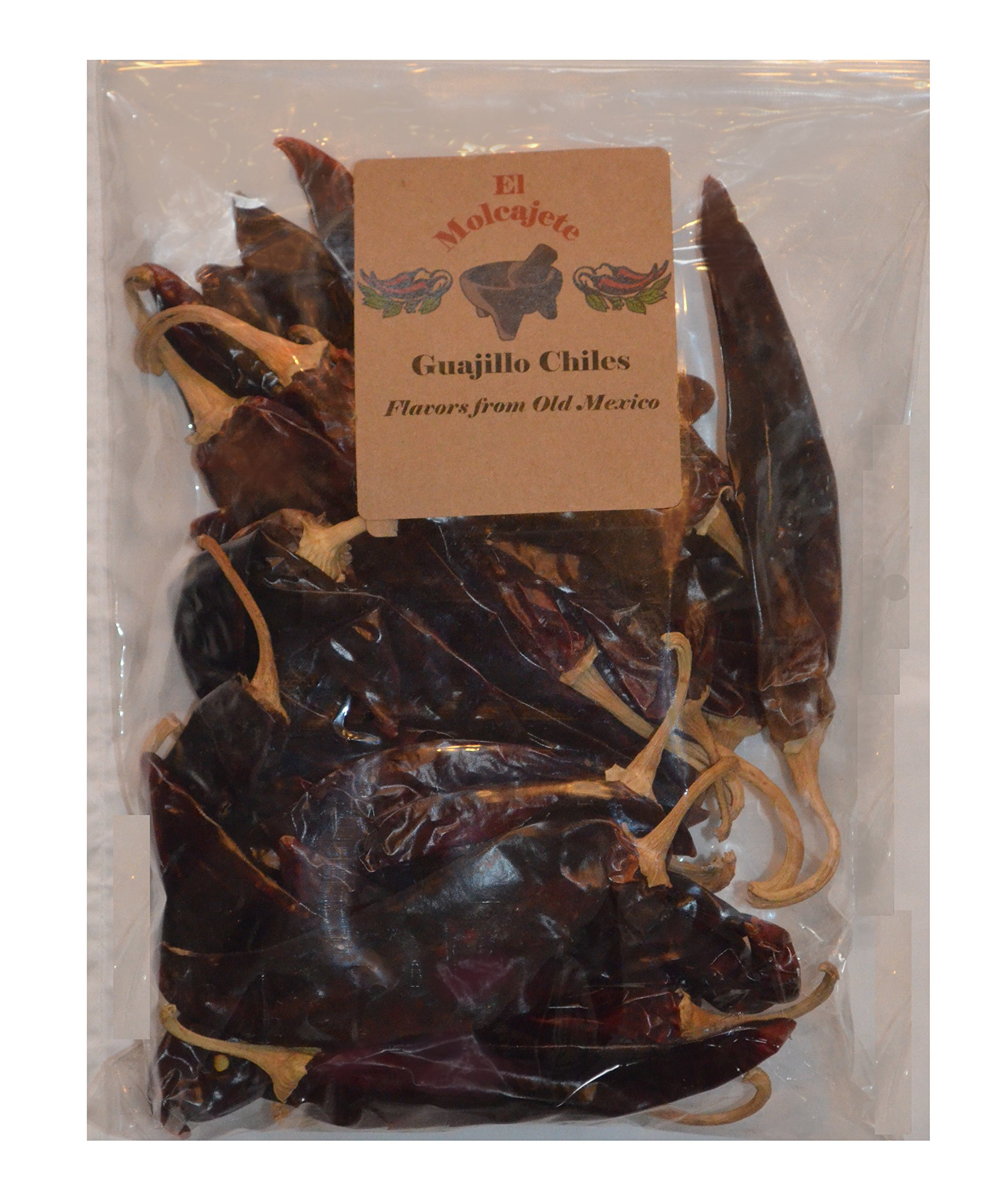 Guajillo Mexican Whole Dried Chile- 8oz Resealable Bag - El Molcajete Brand