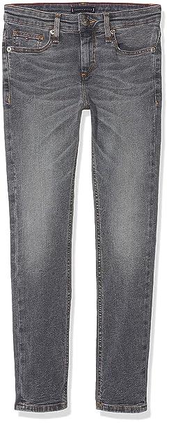 0a4f9658 Tommy Hilfiger Boy's Scanton Slim Ragbst Jeans, (Raleigh Grey Blue Stretch  911),
