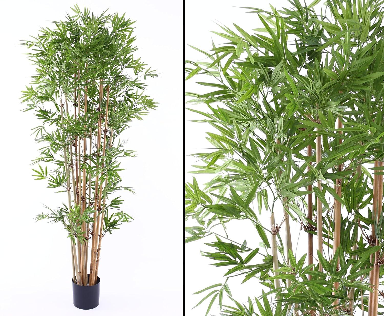 Kunstpflanzen Discount amazon de bambus schwer entflammbar mit 2400 blättern höhe ca