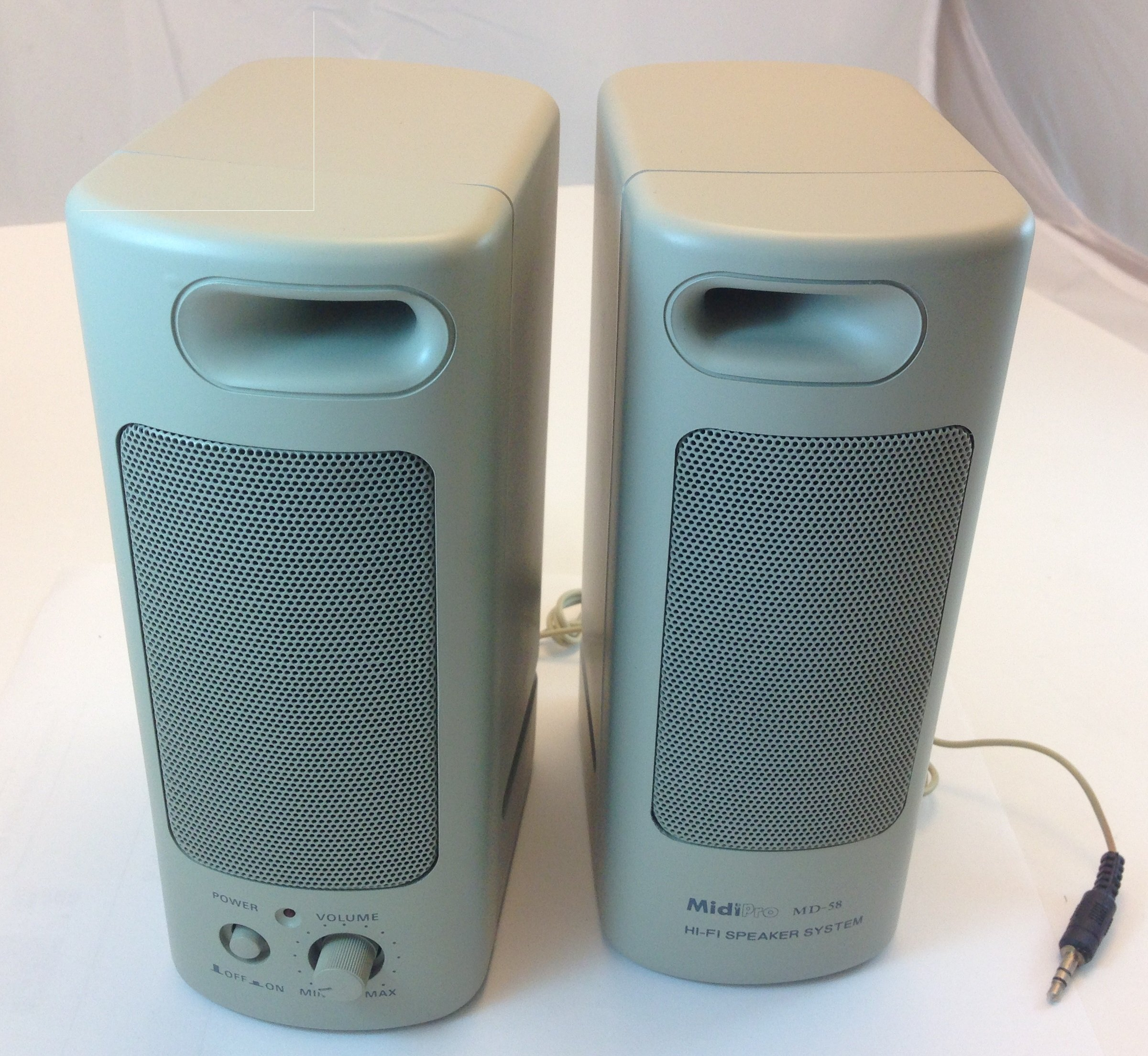 MULTI-MEDIA AMPLIFIED SPEAKERS FOR COMPUTER, PORTABLE FOR MP3 PLAYER/CELLPHONE CONNECTION by CES