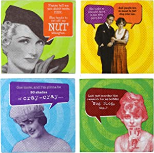 80 Count, Cocktail Drink Napkins with Funny Sayings, by IM Proper Greetings