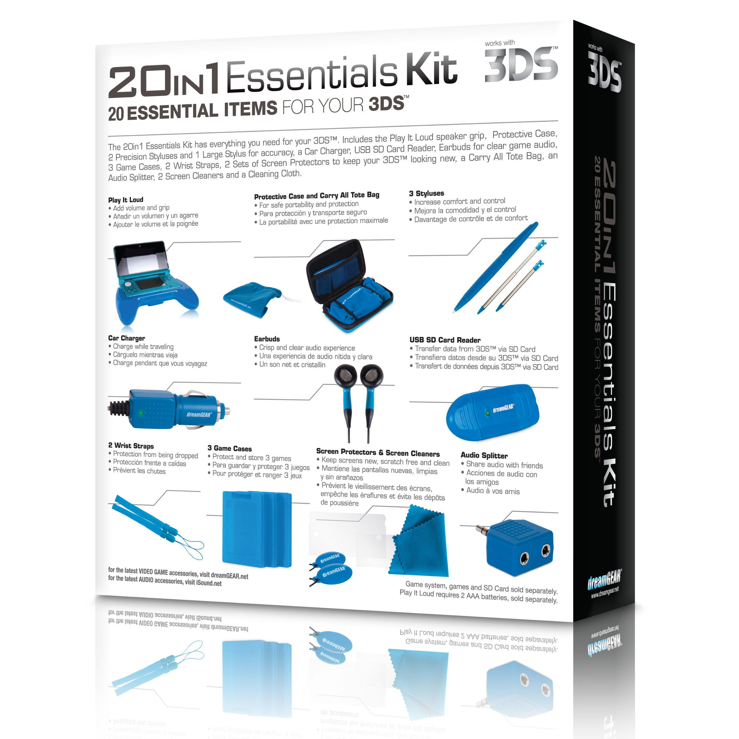 dreamGEAR Nintendo 3DS 20-in-1 Essentials Kit (blue) by dreamGEAR (Image #8)