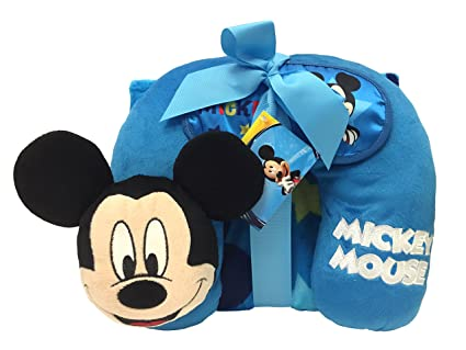 7e517dce0212 Amazon.com  Disney Mickey Mouse 3 Piece Travel Set with 40