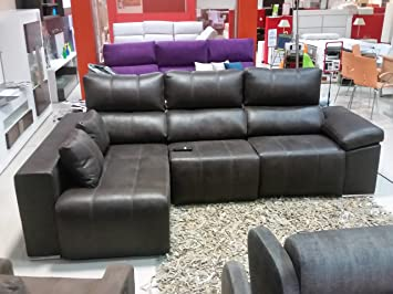 Pegasus Sofa-Chaise Longue-2 Motores-Relax-arcon y 2 poufs ...
