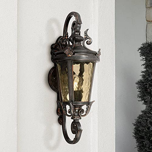 Casa Marseille Vintage Outdoor Wall Light Bronze French Vintage Sconce Fixture for Home Porch Patio – John Timberland