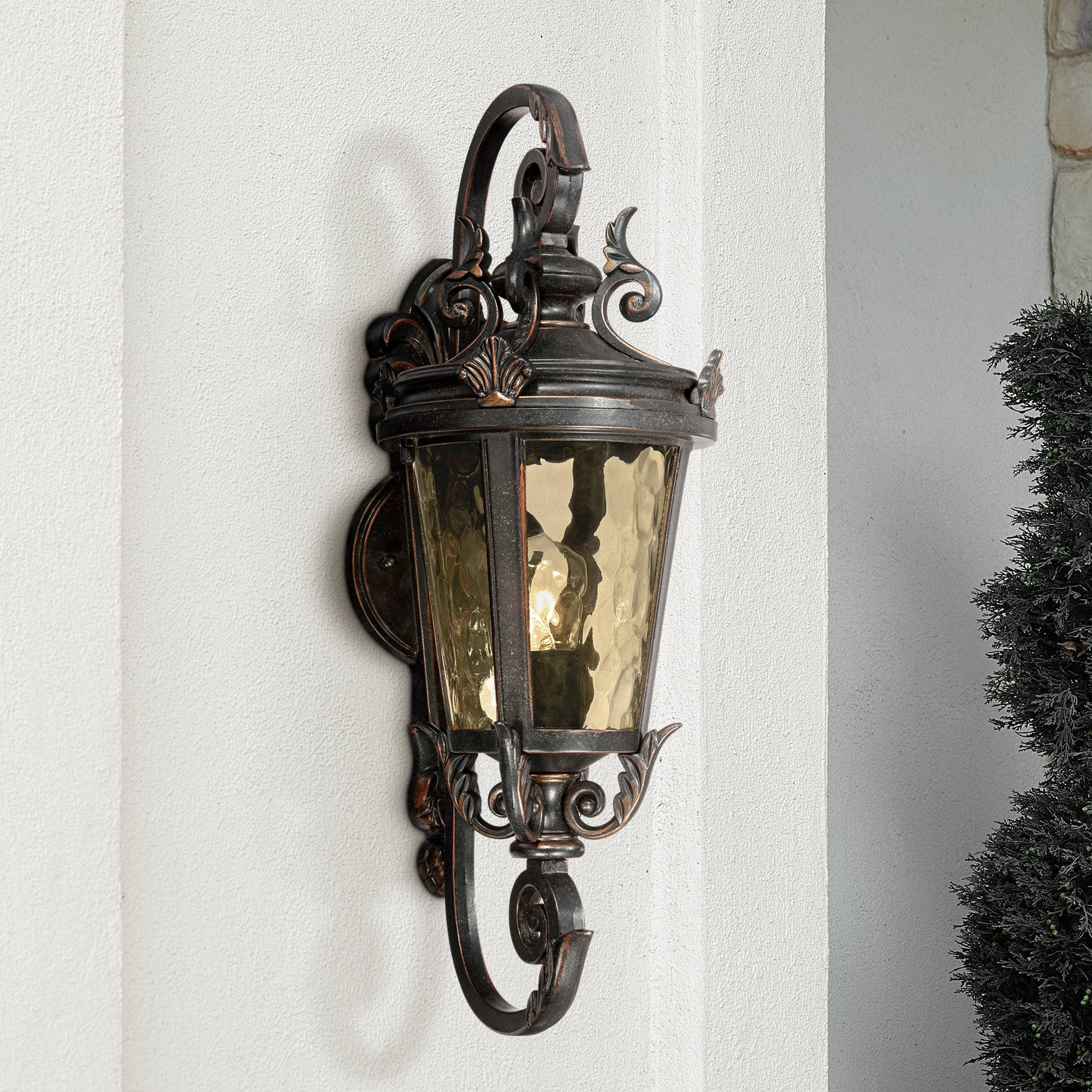 Casa Marseille Vintage Outdoor Wall Light Bronze French Vintage Sconce Fixture for Home Porch Patio - John Timberland