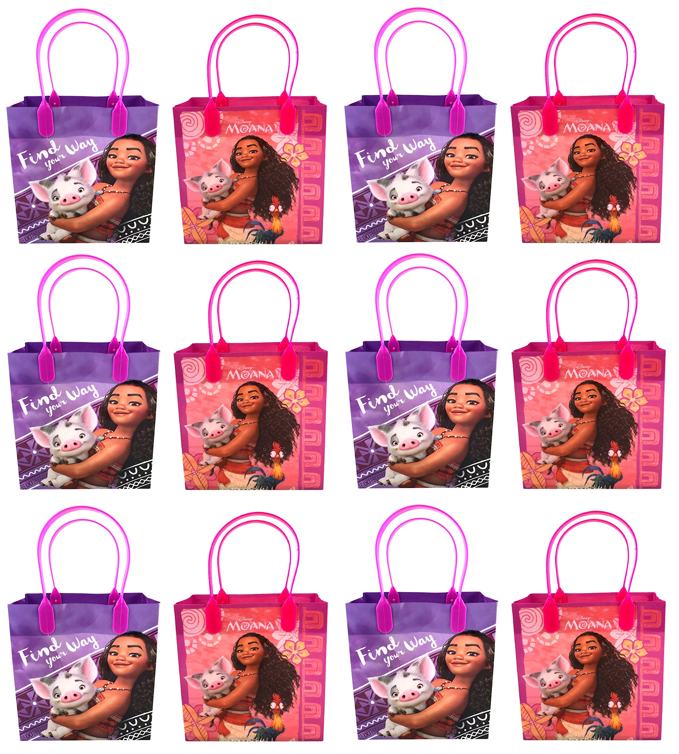 Amazon Disney Moana 12 Pcs Goodie Gabs Party Favor Bags Gift Birthday Toys Games
