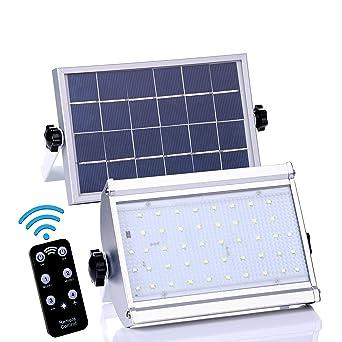 Luces solares para exteriores, ALFLASH 800 Lumen 46 LED Sensor de movimiento solar Luces de seguridad ...