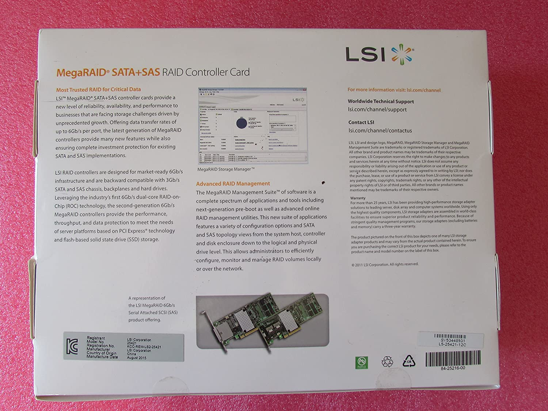 LSI Logic LSI00333 MegaRAID SAS 9286CV-8e 8Port 6Gb s PCIE3 0 1GB  Controller Card