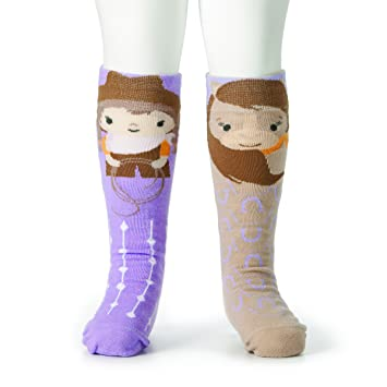 Story Time Knee Socks Toddler Non Skid Cowgirl /& Horse Mismatched Pair New