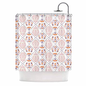 Amazon KESS InHouse Neelam Kuar Modern Reminisence White Pink