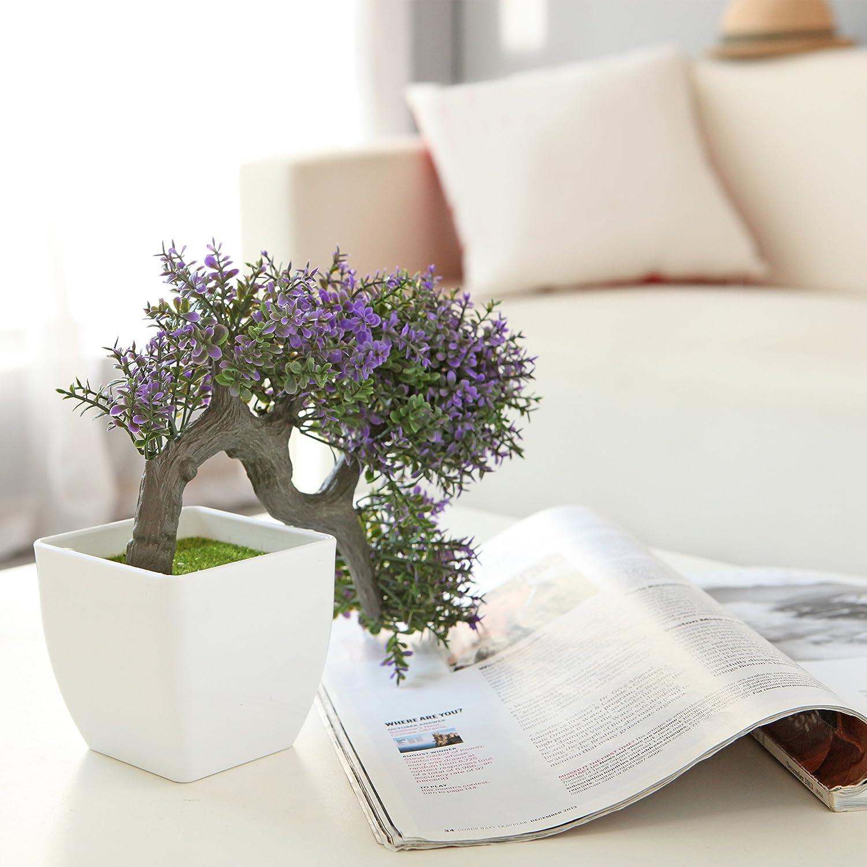 Amazon.com: MyGift Purple Blossom Artificial Bonsai Tree, Faux ...