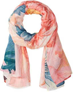 Desigual Women s Crhystal Gogo Rectangle Flower Print Foulard Scarf ... fe8bc3b1d20f