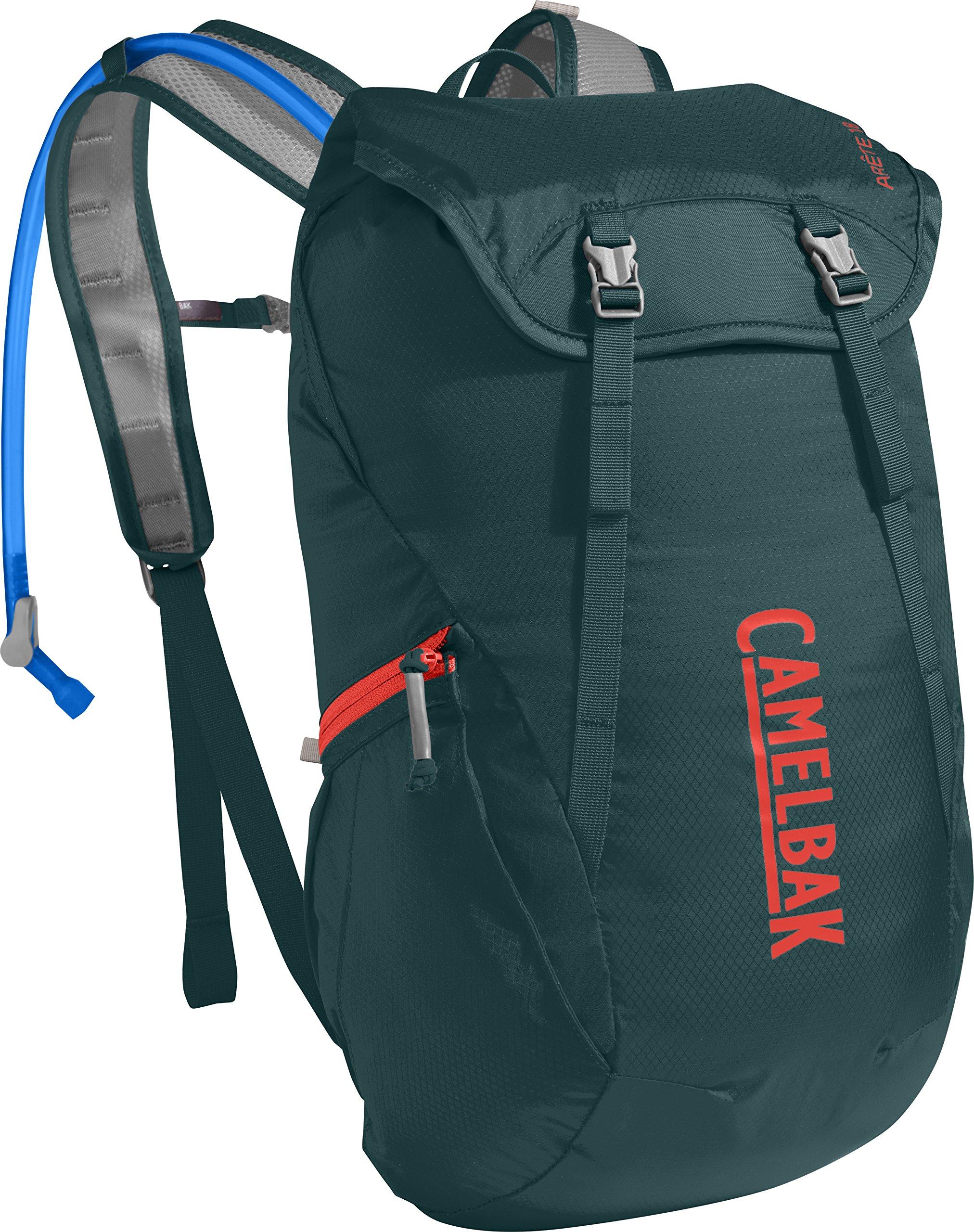 CamelBak Arete 18 Crux Reservoir Hydration Pack, Deep Teal/Hot Coral, 1.5 L/50 oz
