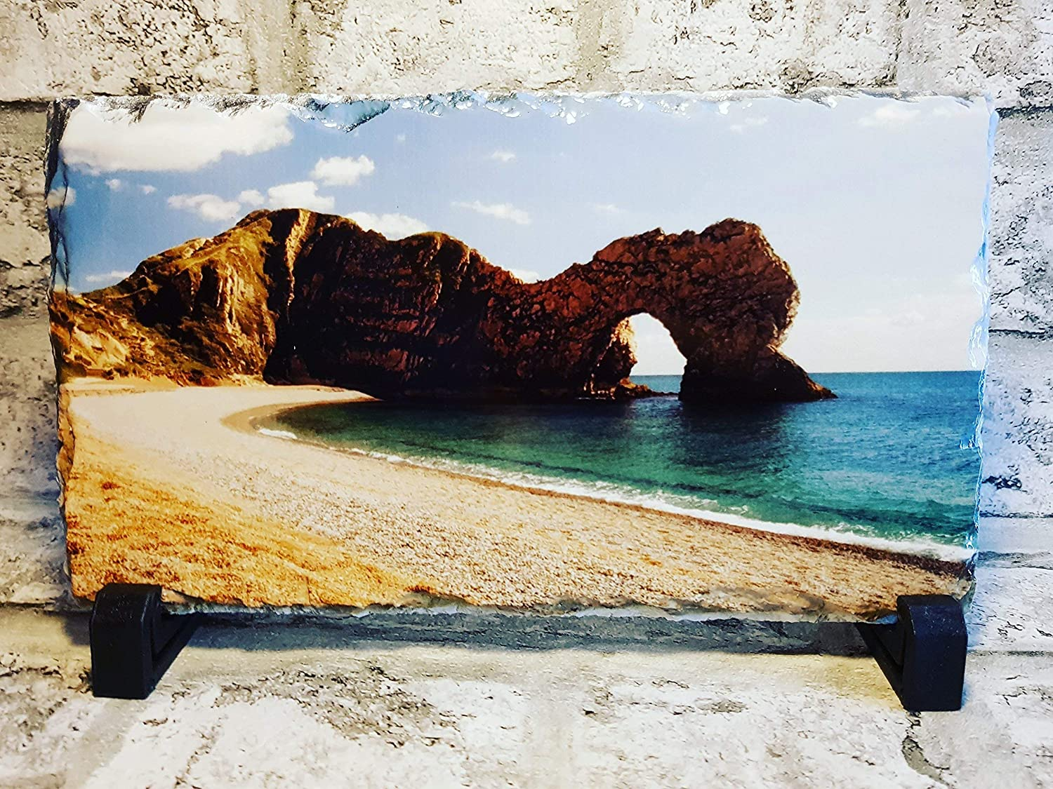 Personalised Photo Rock Slate Custom Printed With You/'re Picture,offer 2@£14.49