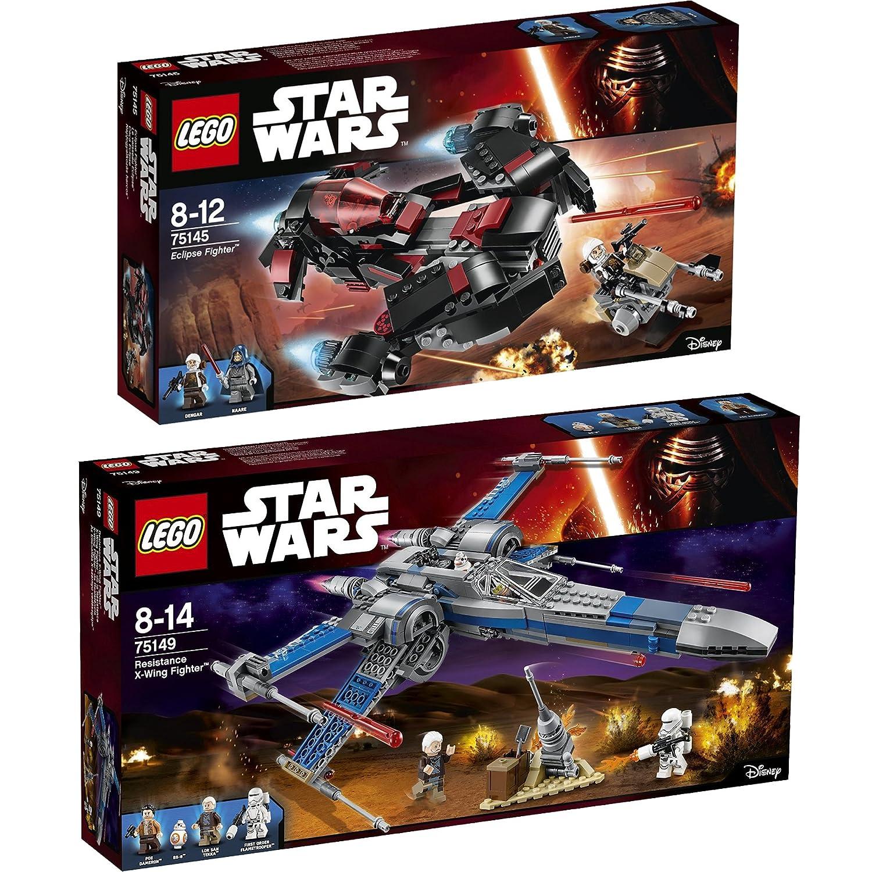 Lego Star Wars 2er 2er 2er Set 75145 75149 Eclipse Fighter + Resistance X-Wing Fighter - sofort lieferbar! b9e693