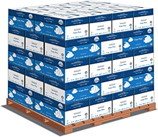 product image for Hammermill Copy Plus 20lb Paper, 8.5 x11, 40 Case Pallet, 200,000 Sheets, Made in USA, Sustainably Sourced From American Family Tree Farms, 92 Bright, Acid Free, Economical Printer Paper, 105007P