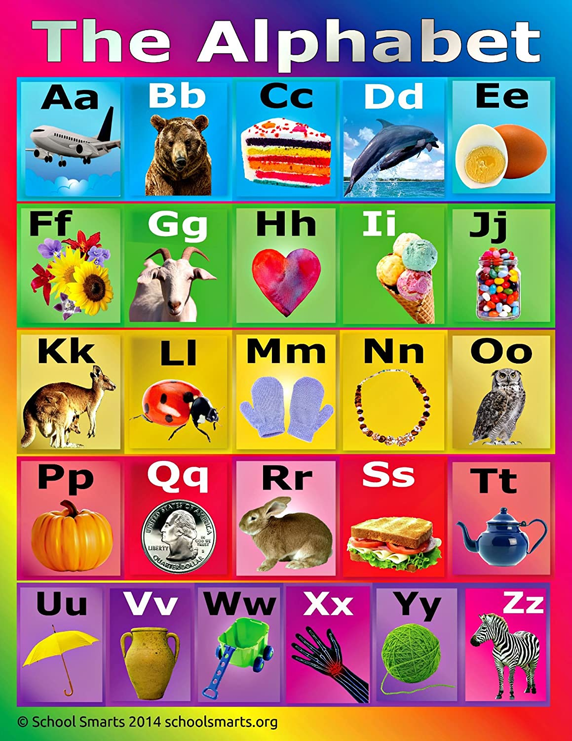 Amazon ABC Alphabet Chart by School Smarts Durable Material – Abc Chart