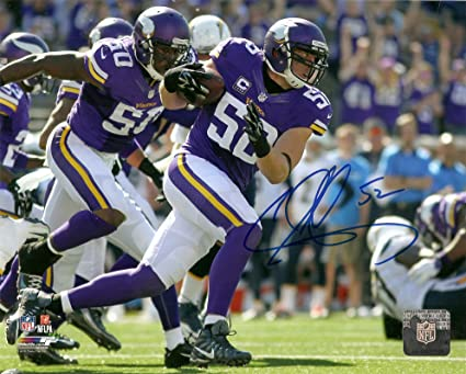 new style f076a 4051c Chad Greenway Minnesota Vikings Autographed/Signed 8 x 10 ...