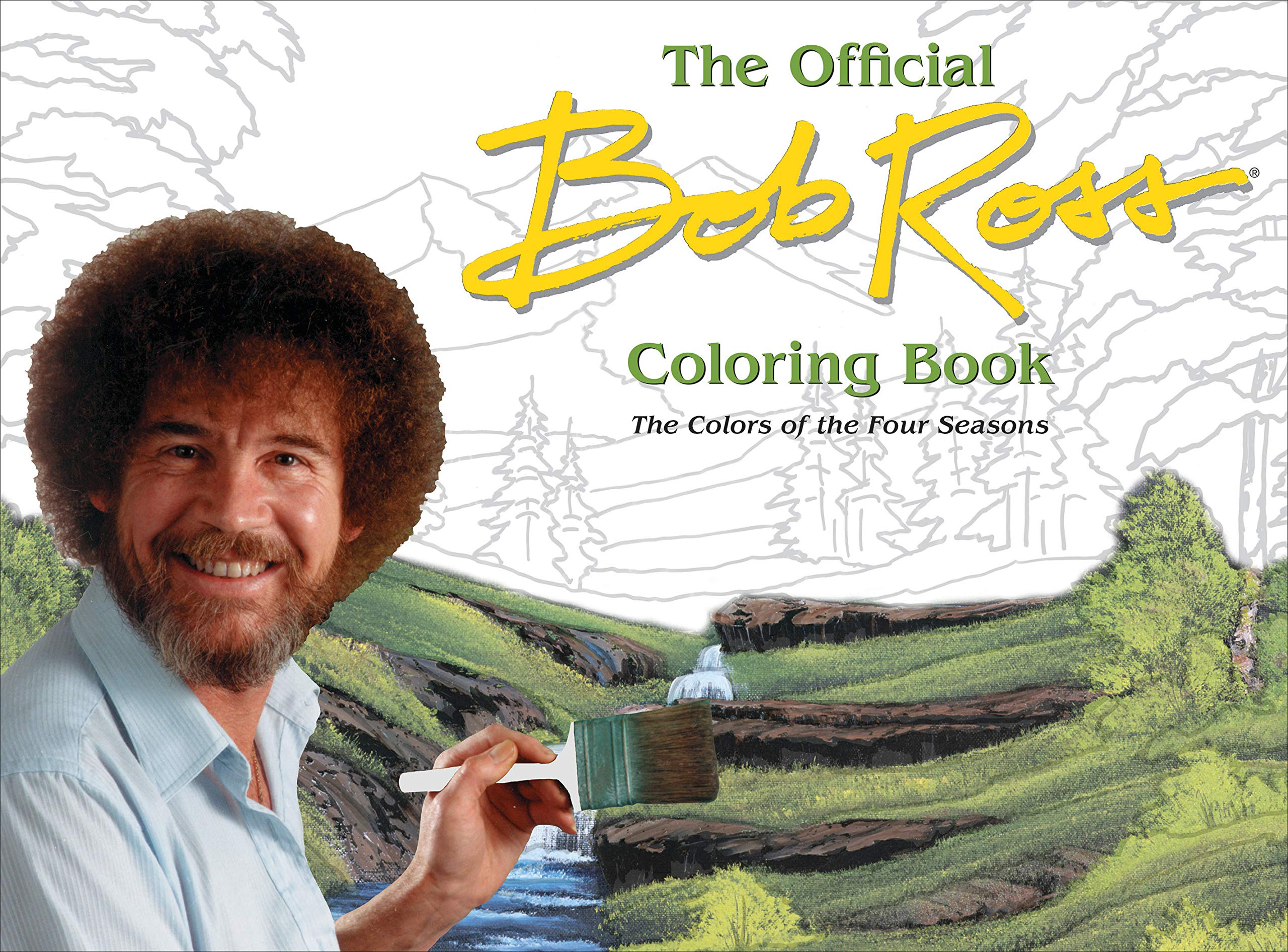 Amazon Com The Official Bob Ross Coloring Book The Colors Of The