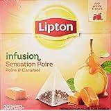 Lipton Infusion Sensation Poire Caramel - 44 g Lot de 6