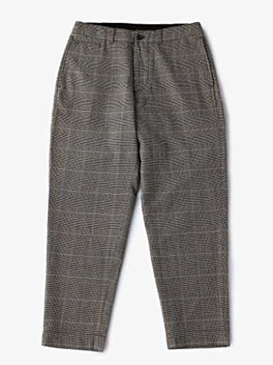 Glen Plaid Wool Tapered Pants 1114-199-6067: Grey