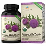 USDA Certified Organic Milk Thistle   Non GMO 2000mg 4X Concentrated Vegan Daily Supplement w/Silymarin Seed Extract for Liver Support, Detox and Cleanse - 60 Veggie Capsules