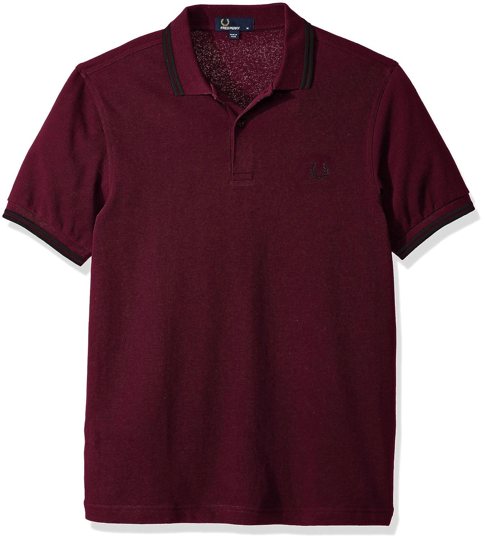 Fred PerryメンズTwin Tipped Shirt B0711RJT7P L Claret Mahog Oxf Claret Mahog Oxf L