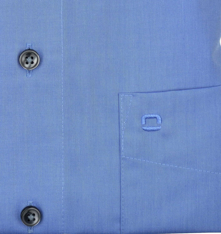 64cm b/ügelfrei bleu New Kentkragen in langarm Olymp Hemd slim line