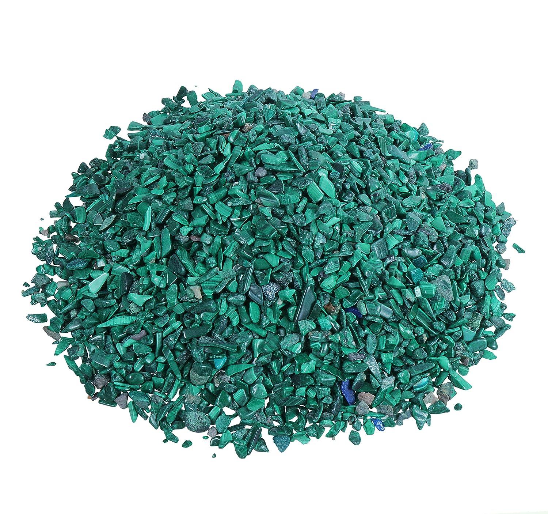Malachite Mini Tumbled Gemstone Chips 100g Diameter 3mm Lebensquelle Plus