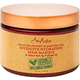 SheaMoisture Intensive Hydration Masque For Dry, Damaged Hair Manuka Honey & Mafura Oil To Smooth Hair 12 oz