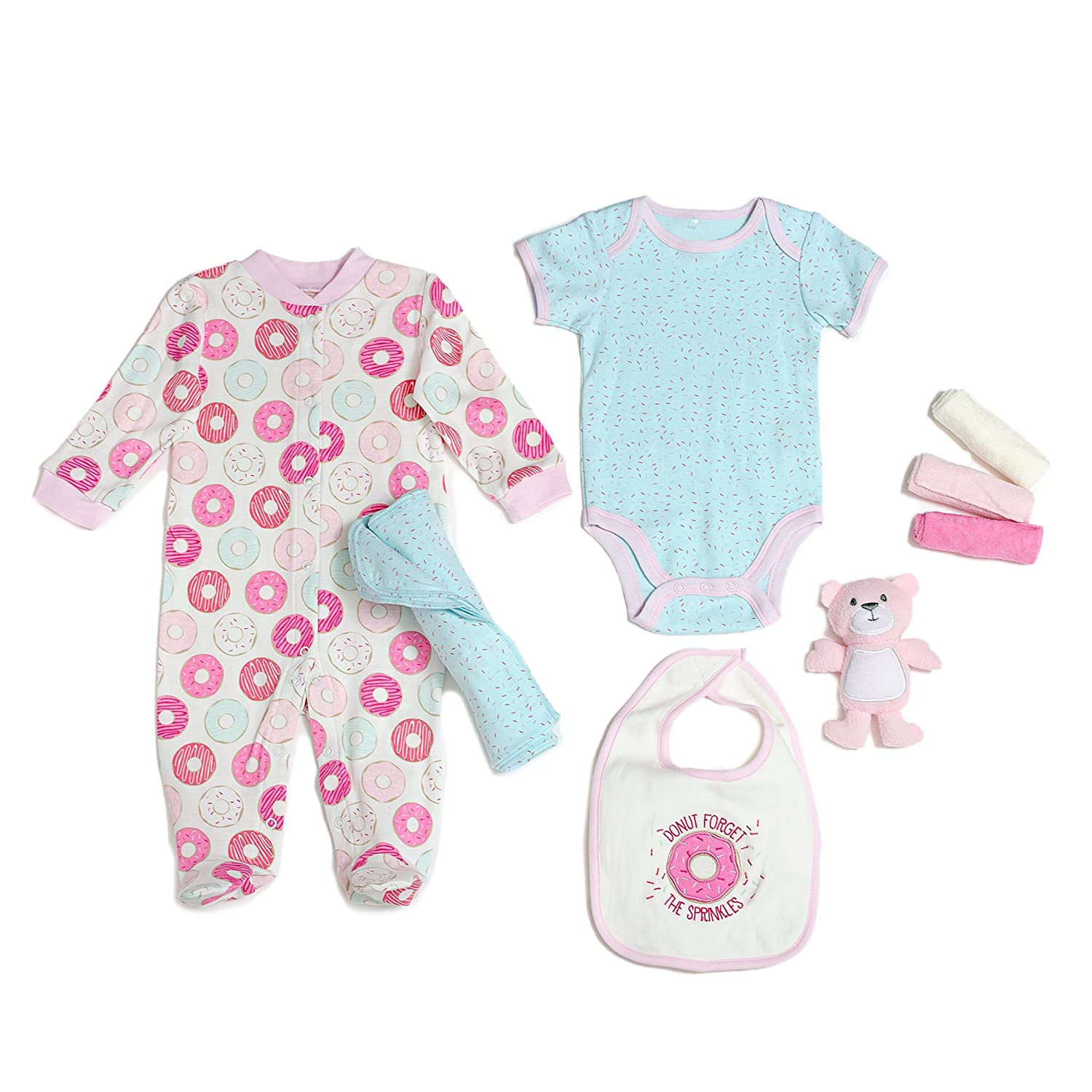Amazon.com: Cutie Pie Girl\'s 9 Piece Layette Set In Tulle Bag With ...