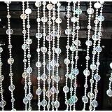Kotak Sales Round Crystal Beaded Sparkling Diamond Garland for Decoration (5.5ft, White, KS-CRYSTALSTRINGS-1) - Pack of 12 Strings
