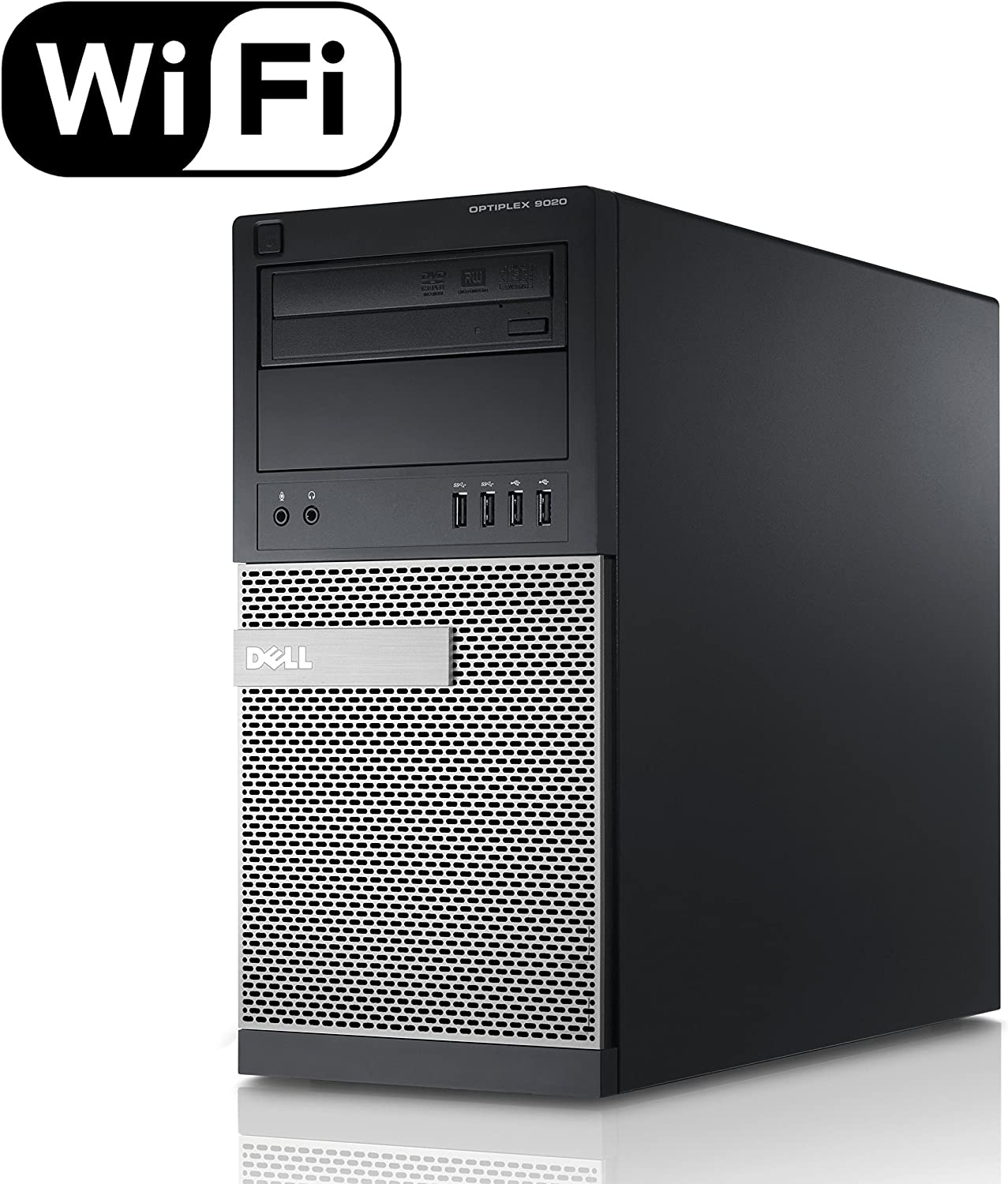 Flagship Dell Optiplex 9020 Small Form Factor Business Desktop - Intel Quad-Core i5-4590 up to 3.7GHz, 8GB DDR3, 256GB SSD, DVD±RW, WLAN, USB 3.0, Keyboard/Mouse Included,Windows 7/10 Pro
