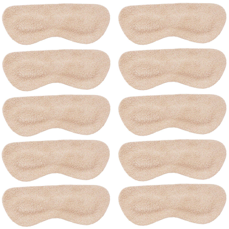 Mintfoot Leather Heel Grips - 10 Pieces - Shoe Liners for Women & Men - Heel Snugs - Heel Protectors for Blisters & Cuts in High Heels