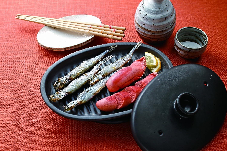 イシガキ産業 魔法のお皿・大判型 ふた付き 黒 3422