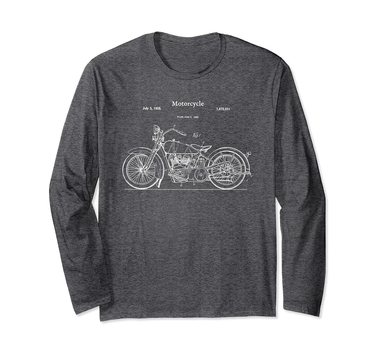 Vintage Street Bike Long Sleeve Shirt – Motorcycle Biker Tee-Samdetee