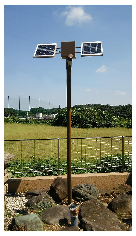 sigen 人工衛星型ソーラー外灯 太陽光発電 ポール付 ソーラー街灯 ソーラー 街路灯 B075B3G4PB