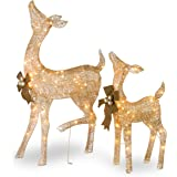 National Tree Pine 28 Inch and 38 Inch Doe and Fawn