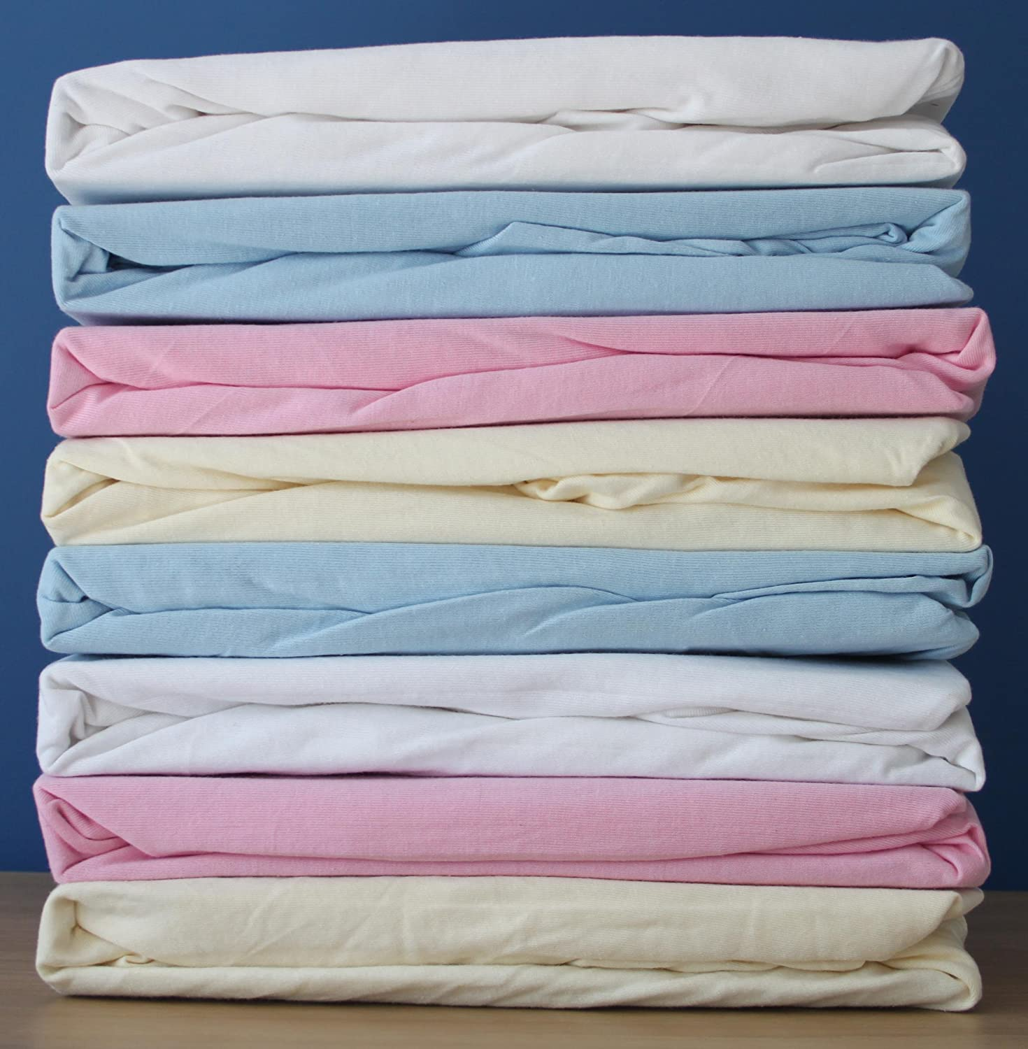 2-Piece Cream /& Pink Dudu N Girlie Cotton Jersey Cot Bed Fitted Sheets