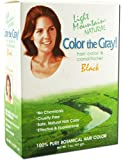 Light Mountain Color The Gray! Natural Hair Color & Conditioner, Black, 7 oz (198 g)