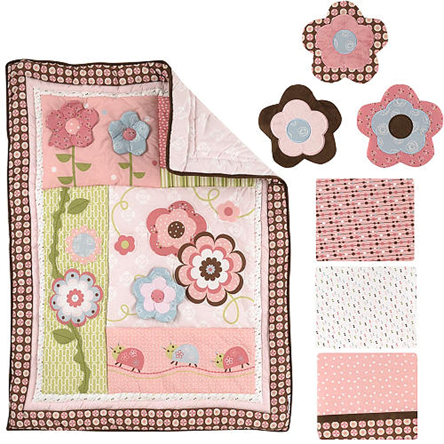 B008H3ST6Y Graco 7 Piece Crib Bedding Set, Garden Girl (Discontinued by Manufacturer) 91vpgKWumiL._SL1500_