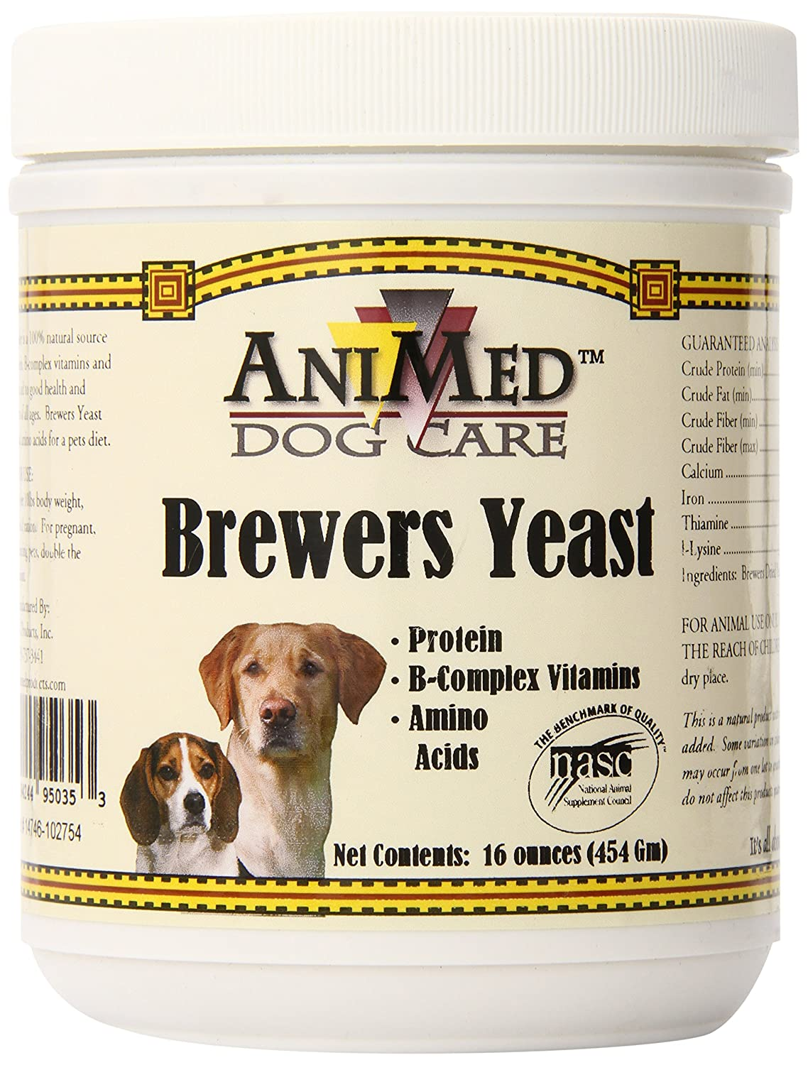 AniMed Pure Brewer's Yeast Powder for Dogs 16-Ounce