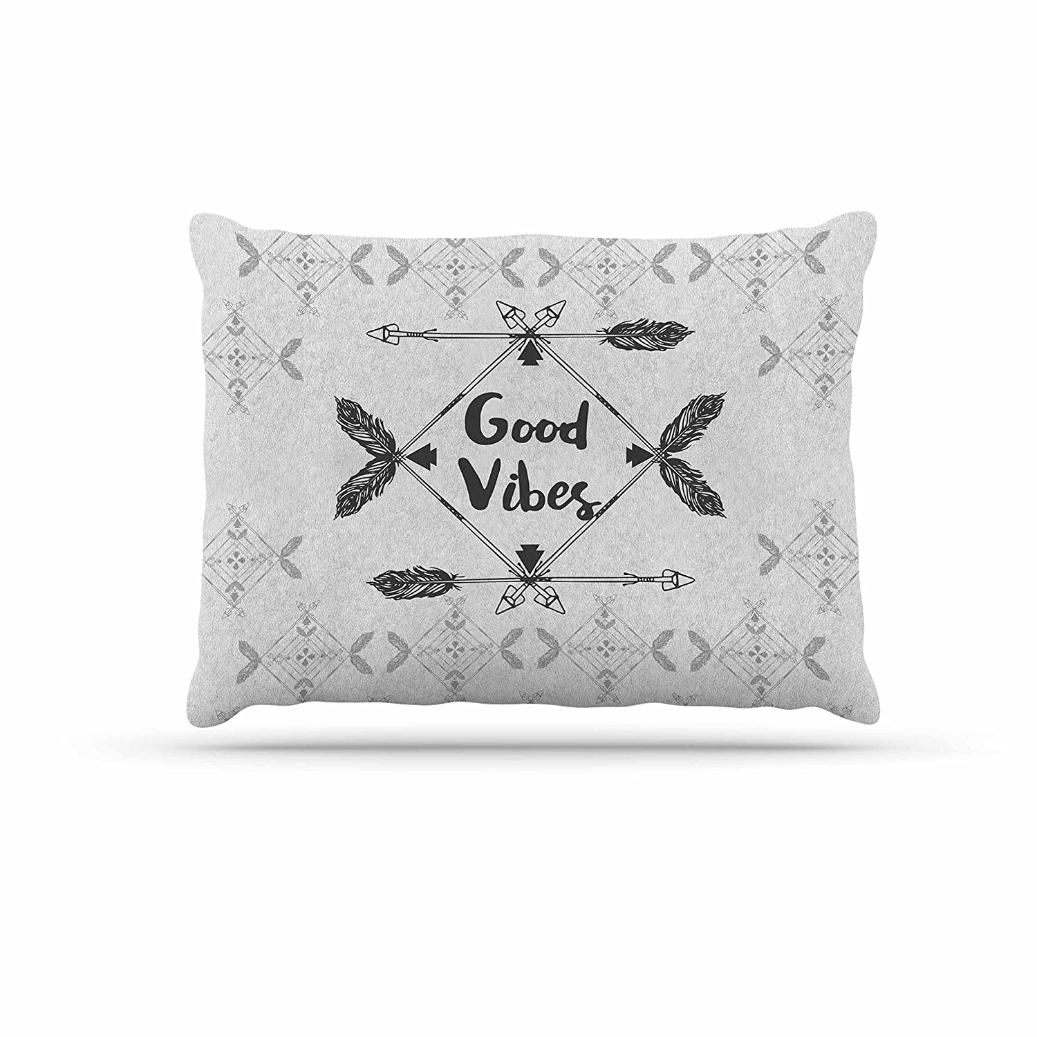 KESS InHouse Famenxt Merry & Bright Holiday Typography Dog Bed, 50  x 40