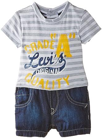 Levi S Baby Boys Nf33014 Combi Striped Clothing Set Blue Indigo
