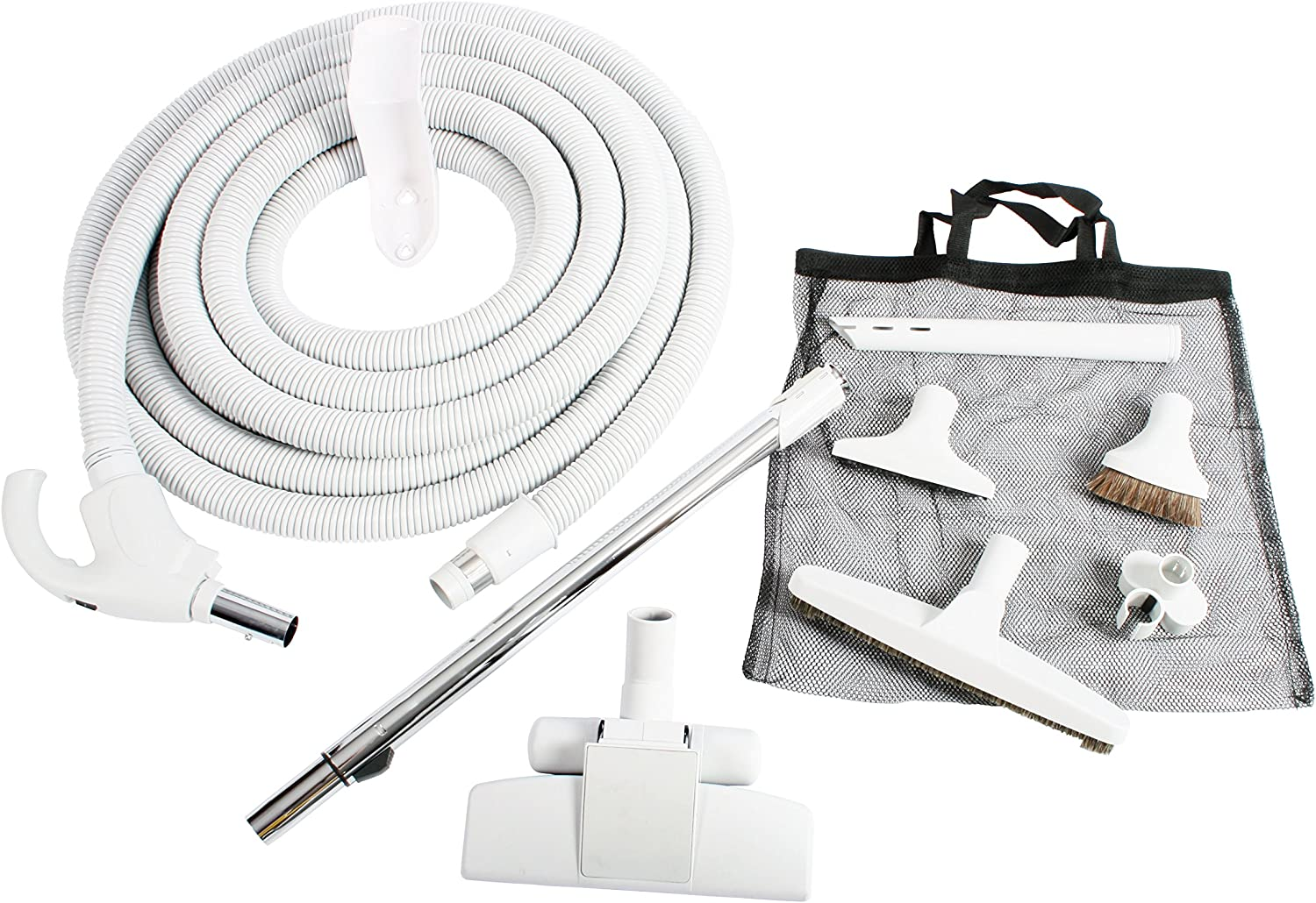 Cen-Tec Systems 94269 Central Vacuum Low Voltage Kit with 30 Ft. Switch Control Hose Light Gray