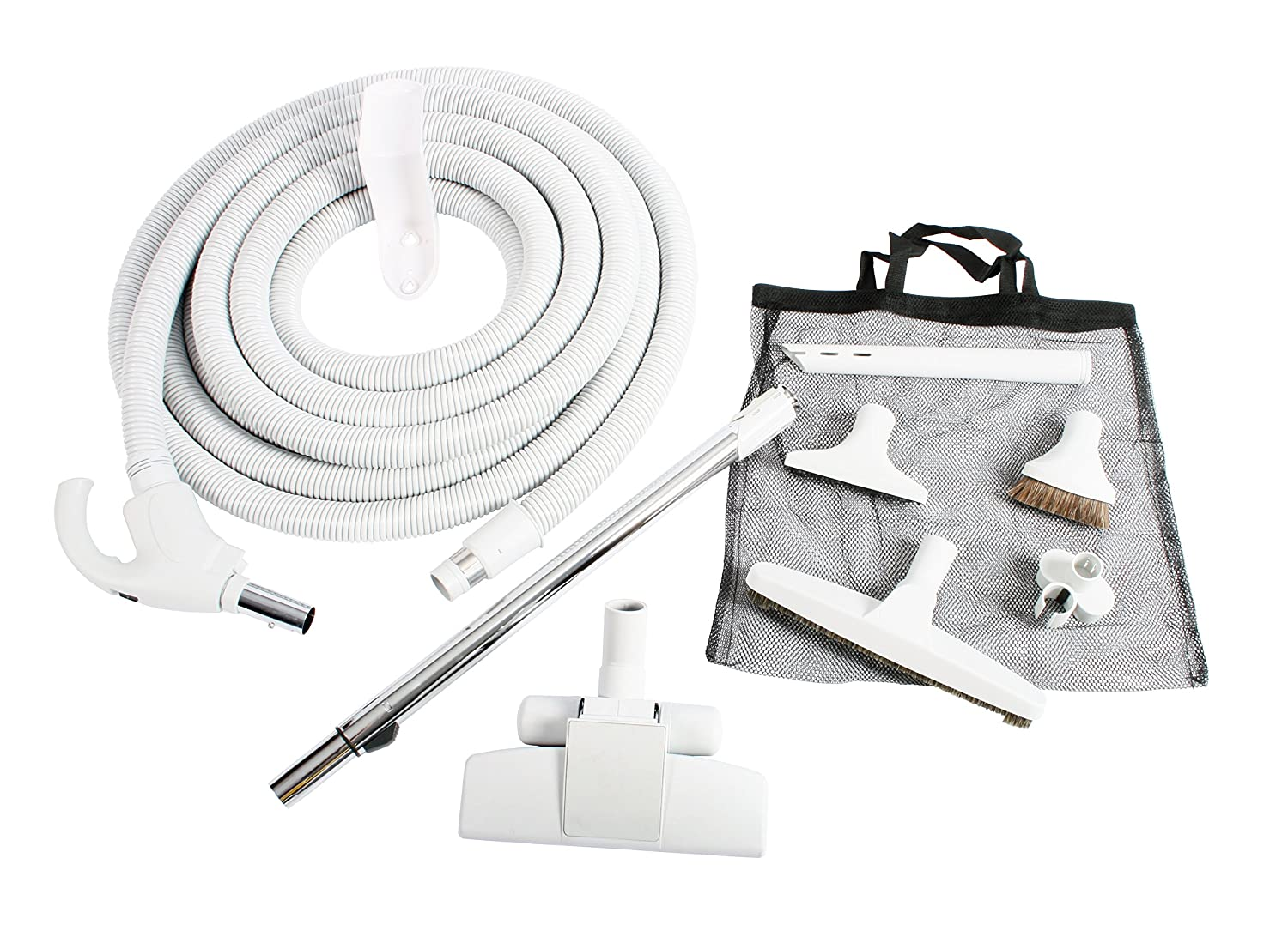 Cen-Tec Systems 93642 Central Vacuum Low Voltage Kit 35 Ft. Hose Light Gray