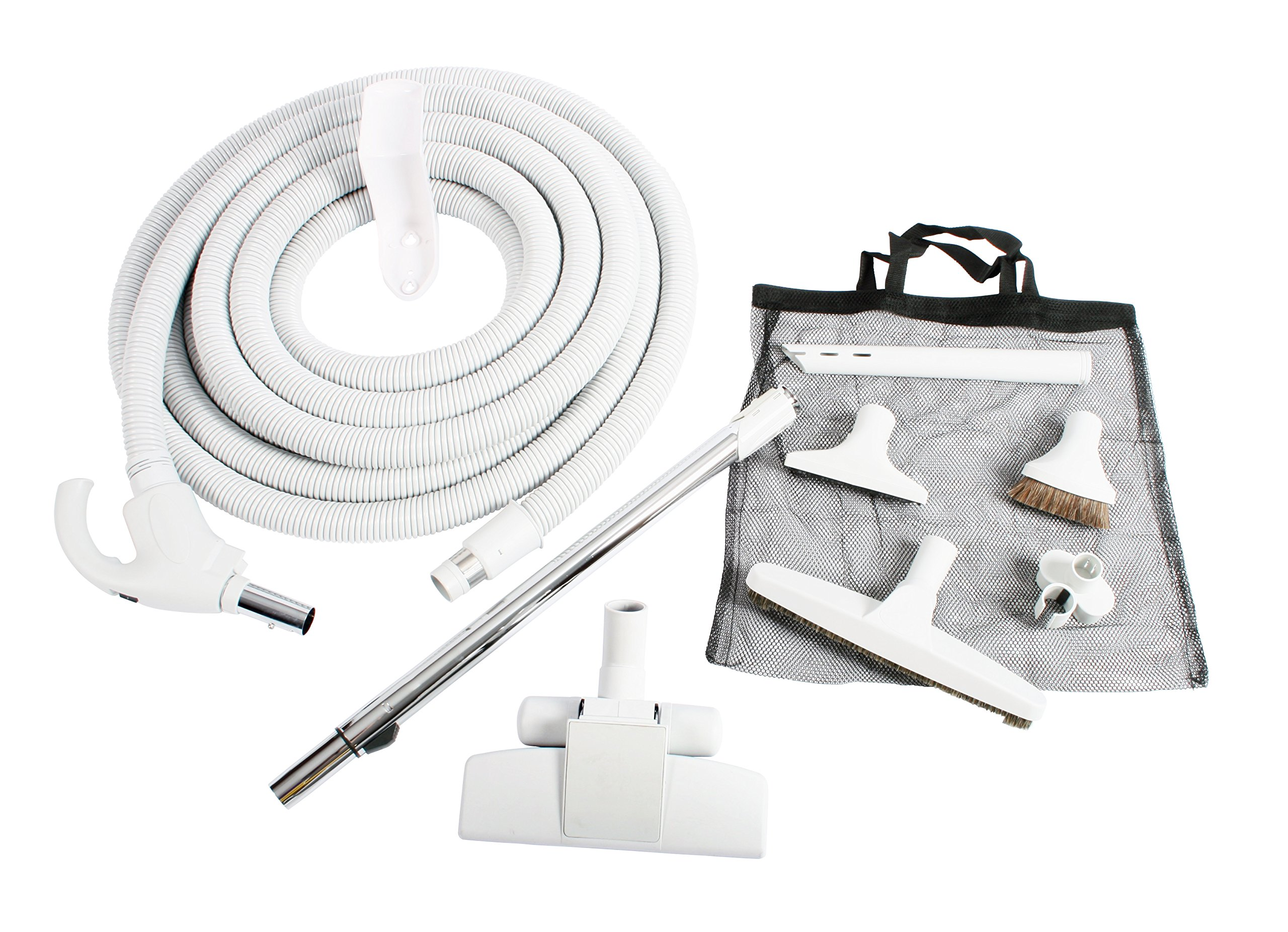 Cen-Tec Systems 93642 Central Vacuum Low Voltage Kit, 35 Ft. Hose, Light Gray