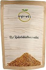 myfruits goldener Bio Kokosblütenzucker - 1kg Big Pack / Nachfüllpack DE-ÖKO-003 feinkörnig. Zuckerersatz mit natürlichem Karamellgeschmack. Abgefüllt in Deutschland - finest superfood (1000g)